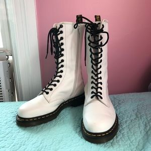 White Tall Doc Martens